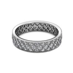Your Personal Ejeweler..This Simply Elegant 1.08 Carat tw-1.22 Carat tw Eternity Band is set with Three Rows of Diamond surrounded with Milgrain Work spreading Sparkle in every direction when worn around the finger. #Trijewels #Ejeweler #Eternity #Diamond #EternityRing #WeddingBand #EternityBand #Ring #WomensRing #Gift #Love #Wedding #Engagement #Womenjewelry #FineJewelry #JewelryBuyers #AnniversaryRing #Wedding #YellowGold #WhiteGold #RoseGold #StackableRing #Rings #GoldRings… Sapphire Eternity Ring, Sapphire Band, Eternity Bands, Pink Sapphire, Gemstone Engagement Rings, Anniversary Rings, Diamond Studs, Fine Jewelry, White Gold