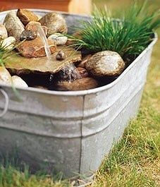 Build a mini water garden: These three potted ponds are sure to inspire you to add your own soothing water feature to your space. Build a mini water garden: Th Garden Oasis, Lawn And Garden, Home And Garden, Garden Water, Small Water Gardens, Potted Garden, Water Pond, Garden Cottage, Rooftop Garden
