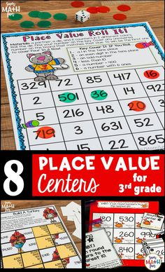 Place Value Games Grades -Rounding, Expanded Form, Comparing, Ordering Fun Math, Math Games, Math Activities, Math Rotations, Math Centers, Numeracy, Teaching Math, Teaching Ideas, Place Value Games