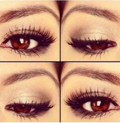 Makeup for light brown eyes
