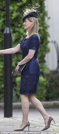 Sophie in a glamorous Bruce Oldfield frock for the Duke of Wellington's memorial service last month