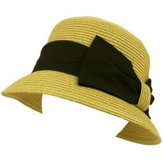 Ladies UPF 50 Beach Summer Sun Cloche Bell Bucket Big Ribbon Bow Hat Natural SK Hat shop, HATS to buy just click on amazon here http://www.amazon.com/dp/B007IWGER6/ref=cm_sw_r_pi_dp_wOAEsb01AYP82TR8