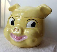 Antique pig cookie jar