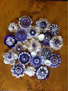 Flores de fieltro para ramo de novia