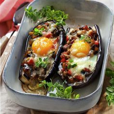 Eggplant Zucchini, Eggplant Recipes, Veggie Recipes, Healthy Recipes, Vegetable Salad, Dinner Tonight, Kids Meals, Love Food, Food And Drink