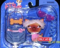 Littlest Pet Shop Exclusive Single Pack Figure Trendy Chihuahua by Hasbro. $43.75. Comes with denim purse, toy bone, pink sunglasses and clothes.. Exclusive pet, only available at select stores & very hard to find!. Congratulations! You?ve just welcomed a new friend into your very own LITTLEST PET SHOP, where all your pet-lovin? dreams come true! Be sure to keep an eye on this mischievous little monkey.