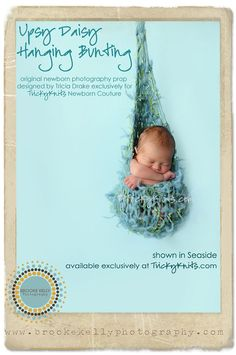 Hanging Bunting Photo Prop Handknit Baby Hammock by TrickyKnits, $90.00  Use code PIN10 at www.trickyknits.com to save 10% on this item!