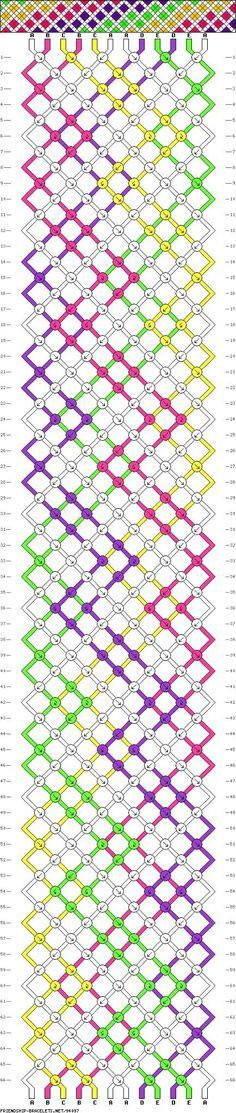 FB #94097 / 1 tour + 45 rangs / blanc plus long
