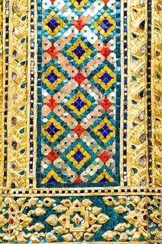 Detail of Grand Palace, Bangkok