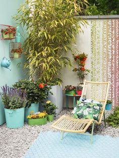 Jardín de primavera exótico
