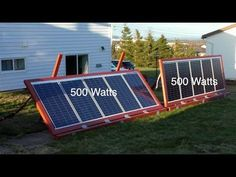 DIY Ground mounted Solar Panels with adjustable angles video shows how to make your own solar panel frames and mount them to the ground. Solar Panel System, Solar Panels, Pressure Treated Plywood, Solar Panel Project, Concrete Walkway, Deck Construction, Floor Trim, Home On The Range, Solar Power