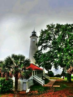 The Saint Marks Lighthouse and the Light Keepers cottage. It's now in the Saint Marks National Wildlife Refuge.