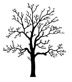 Oak Tree Clipart Black And White Ideas Oak Tree Silhouette, Silhouette Clip Art, Oak Tree Drawings, Art Drawings, Drawing Art, Pop Art Bilder, Red Oak Tree, Tree Outline, Images D'art