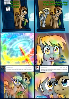 Steampunk Doctor Whooves And Derpy Derpy Hooves And Doctor Hooves