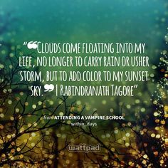 """""""❝Clouds come floating into my life, no longer to carry rain or usher storm, but to add color to my sunset sky.❞ 