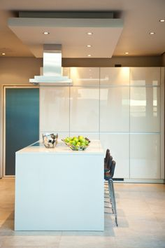 glossy white kitchen cabinets residence in South Africa