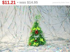 Christmas decoration Christmas stocking Christmas fir tree Holiday ornament Cute office home cubicle decor Fireplace mantel New Years gift (11.21 USD) by syvenir3dnru