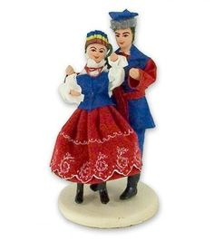 This traditional Polish doll set is completely hand made the old fashioned way with papier mache, dress materials and paints. The dolls are clothed in authentic regional folk costume. Folk Costume, Costumes, Polish Clothing, Polish Folk Art, Regional, American Girl, Barbie, Spaces, Traditional