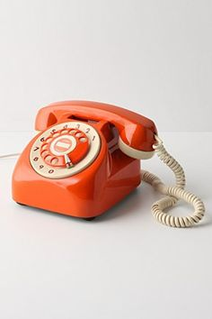 What an awesome retro phone! #Orange
