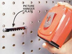 DIY Tip of the Day: Tape Measure Holder. Since I've never had a specific place to store my tape measure, I could never find it when I needed it. I solved the problem by screwing a large picture hanger plate onto the wall behind my workbench. Now, I hook the tape measure onto the hanger when I'm finished and have no trouble finding it at all. - John Lee