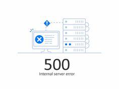 Error 500 White by Aleksandar Savić #Design Popular #Dribbble #shots
