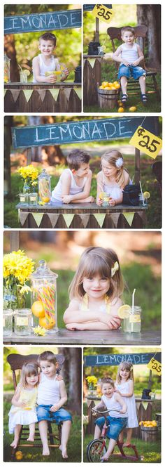 Lemonade Stand Photo Session Ideas