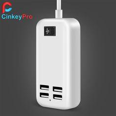 CinkeyPro USB <font><b>Charger</b></font> 4 Ports Mobile Phone Adapter 15W 3A EU Plug Wall <font><b>Dock</b></font> For iPhone 5 6 iPad Samsung Xperia Charging Device Price: PKR 652.18755 | Pakistan