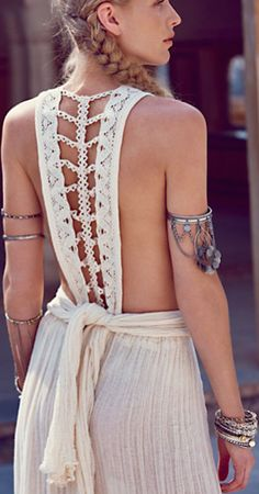 gorgeous braided back dress http://rstyle.me/n/j43ezr9te