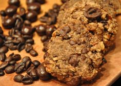 Chocolate Covered Coffee Bean Cookies / substitute flax seed and soy milk for the eggs to make vegan style.