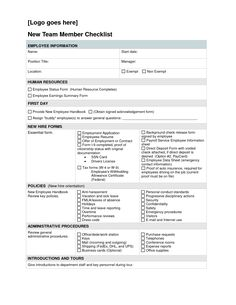 Employee New Hire Checklist | Employee Forms | Pinterest ...