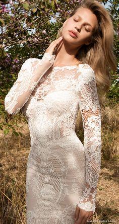 gala galia lahav spring 2017 illusion long sleeves jewel neck mermaid lace wedding dress (705) zfv