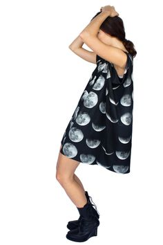 Moon Phase Jersey Dress by Shadowplaynyc on Etsy Shadow Play 6eb3c43927
