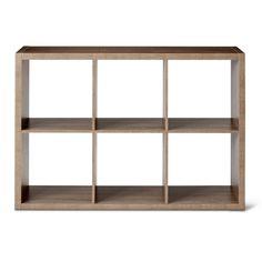 Threshold Cube Organizer shelf in grey Ladder Bookshelf, 5 Shelf Bookcase, Cube Shelves, Cube Storage, Storage Bins, Bookshelves, Storage Ideas, Wood Ladder