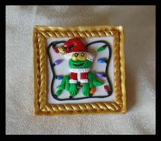 Sharon's Corner -  Polymer clay brooch/pendant/ornament for Christmas.  More info on my blog at:  http://skmcorner.blogspot.com/