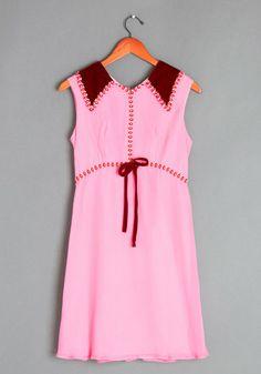 Vintage Poinsettia the Scene Dress   Mod Retro Vintage Vintage Clothes   ModCloth.com