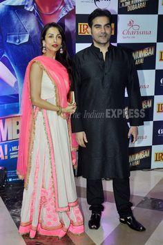 Malaika Arora Khan went ethnic for the iftar party. She was there with her husband Arbaaz Khan. (Photo: Varinder Chawla)