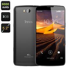 Innos D6000 Smartphone- 5.2 Inch Gorilla Glass Screen, Snapdragon Octa Core CPU, 6000mAh Battery, 3GB RAM, Android 5.1, 4G