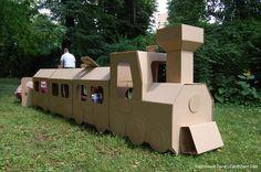 ¡¡¡Chu-chuuuu!!! El tren de cartón: http://blog.cajadecarton.es/juguetes-carton-cardboard-dad/?utm_source=Pinterest&utm_medium=social&utm_campaign=20160616-juguetes_cartonblog