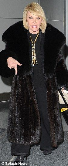 Wearing Fur Coats On TV | ... the Fashion Police! Joan Rivers caught wearing hip-hop inspired outfit