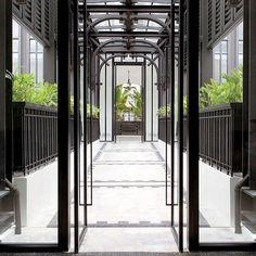 architecture - Bangkok's Siam Hotel Architecture Details, Interior Architecture, Interior And Exterior, Landscape Architecture, Interior Design, The Siam Hotel, Mercure Hotel, Hotel Corridor, Modern Colonial