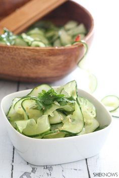 Low-carb Thai cucumber salad