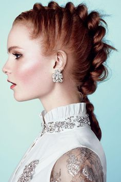 How to get this awesome braided up-do for a sweet prom hairstyle