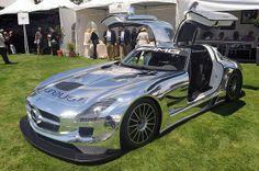 Chrome Mercedes-Benz SLS AMG GT3