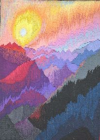 sun over the mountains tapestry - Kathe Todd-Hooker