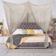 5G Blocking Fabric - BlocSilver®EMF Protection Fabric 4 Poster Bed Canopy, Four Poster Bed, 7 Hours Of Sleep, Bed Mats, While You Were Sleeping, Box Bed, Canopy Design, Queen Size Bedding