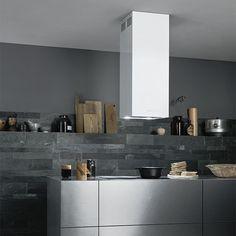 Falmec Mira-V, white cookerhood, liesituuletin