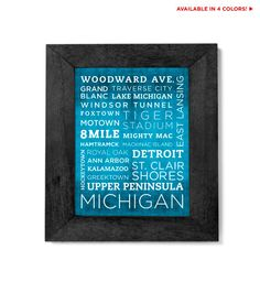 Hey, I found this really awesome Etsy listing at https://www.etsy.com/listing/91423837/michigan-poster-11x14