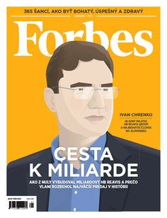 Forbes cover featuring Ivan Chrenko by Jan Family Business, Cover, Relationship, Animation, Illustration, Projects, Movie Posters, Log Projects, Blue Prints