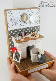 Miniaturowy Świat Lady Fanaberii: Podpórka w grochy