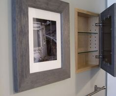 There's space inside most of your interior walls. Why not add a hidden cabinet that has a framed photo that's nice to look at, with hidden storage behind it